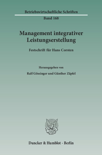 Cover: Management integrativer Leistungserstellung
