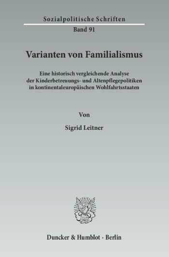 Cover: Varianten von Familialismus