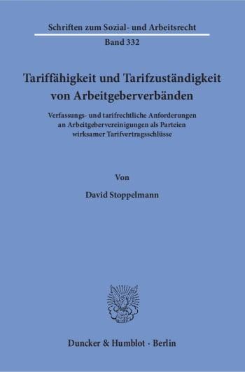 Cover: Tariffähigkeit und Tarifzuständigkeit von Arbeitgeberverbänden