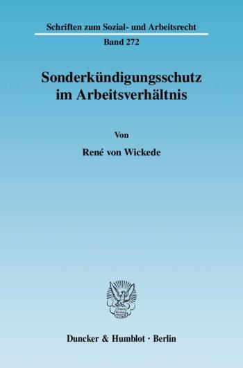 Cover: Sonderkündigungsschutz im Arbeitsverhältnis
