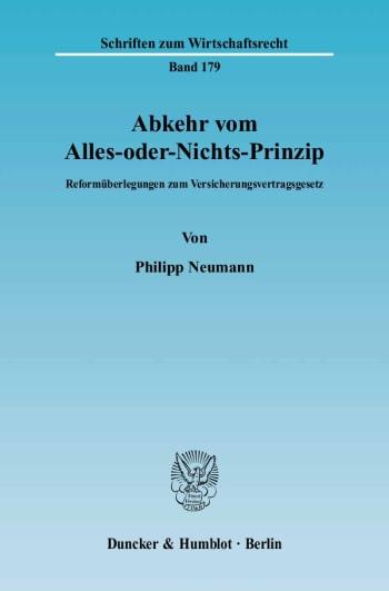 Cover: Abkehr vom Alles-oder-Nichts-Prinzip
