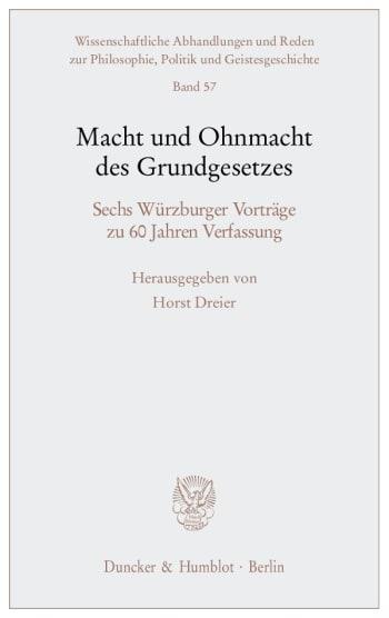Cover: Macht und Ohnmacht des Grundgesetzes