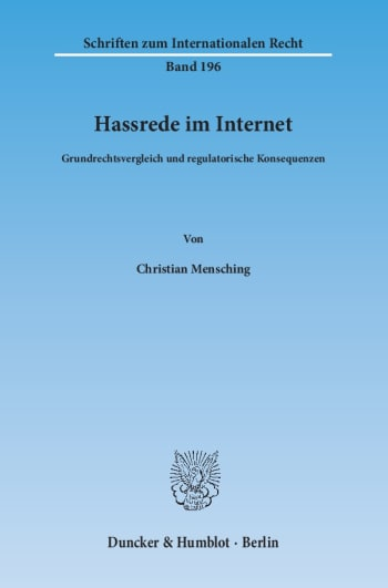 Cover: Hassrede im Internet