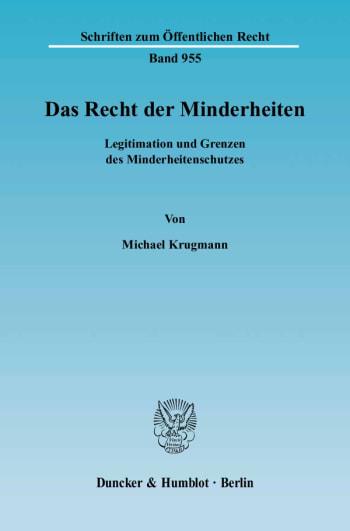 Cover: Das Recht der Minderheiten