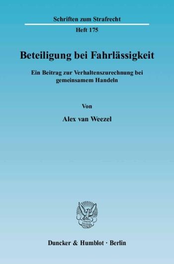 Cover: Beteiligung bei Fahrlässigkeit