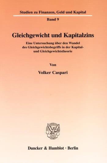 Cover: Gleichgewicht und Kapitalzins