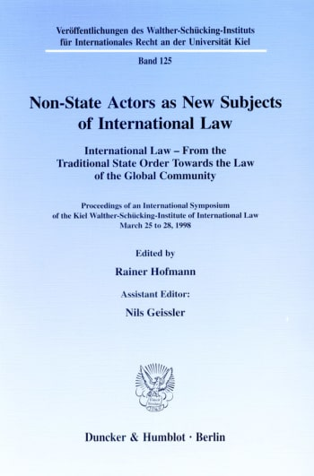 Cover: Non-State Actors as New Subjects of International Law