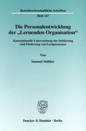 """Cover: Die Personalentwicklung der """"Lernenden Organisation"""""""