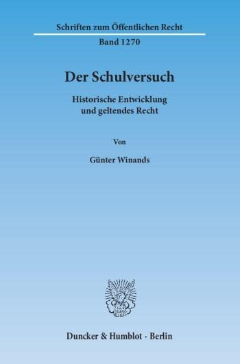 Cover: Der Schulversuch