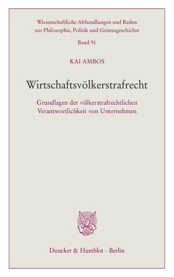 Cover: Wirtschaftsvölkerstrafrecht