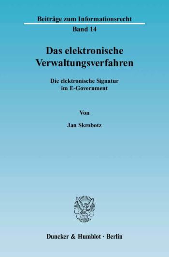 Cover: Das elektronische Verwaltungsverfahren