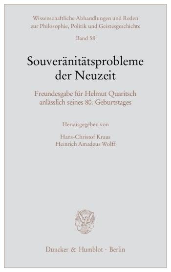 Cover: Souveränitätsprobleme der Neuzeit