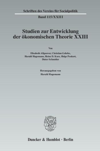 Cover: Ökonomie und Technik