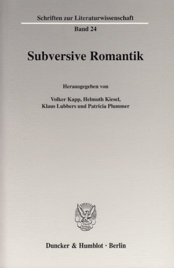 Cover: Subversive Romantik