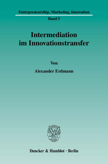 Cover: Intermediation im Innovationstransfer