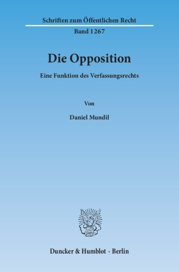 Cover: Die Opposition