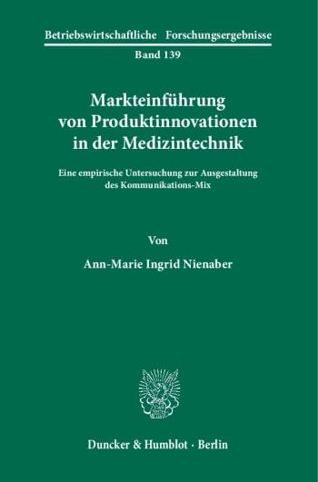 Cover: Markteinführung von Produktinnovationen in der Medizintechnik