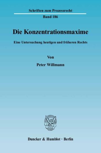 Cover: Die Konzentrationsmaxime