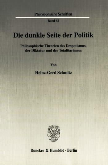 Cover: Die dunkle Seite der Politik