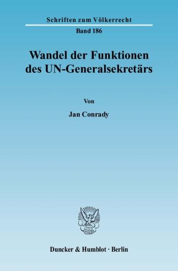 Cover: Wandel der Funktionen des UN-Generalsekretärs