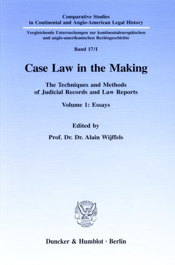 Cover: Case Law in the Making