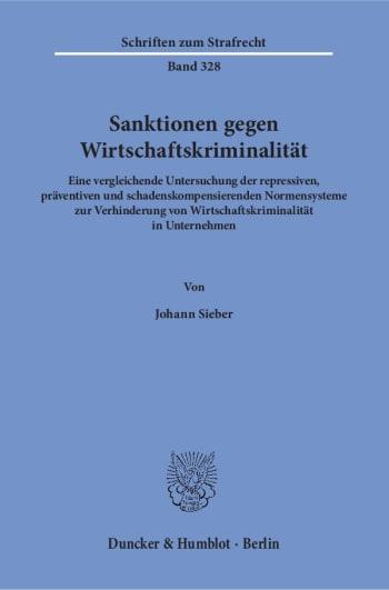 Cover: Sanktionen gegen Wirtschaftskriminalität