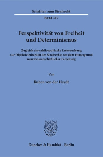 Cover: Perspektivität von Freiheit und Determinismus