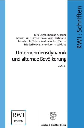 Cover: Unternehmensdynamik und alternde Bevölkerung