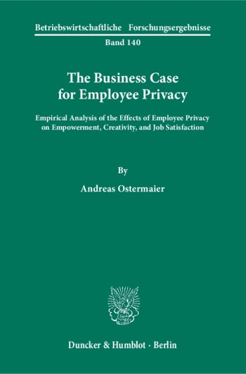 Cover: The Business Case for Employee Privacy