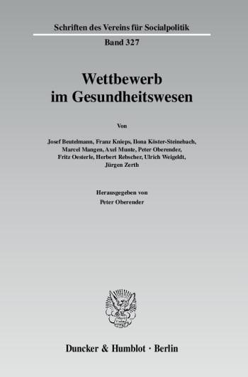 Cover: Wettbewerb im Gesundheitswesen
