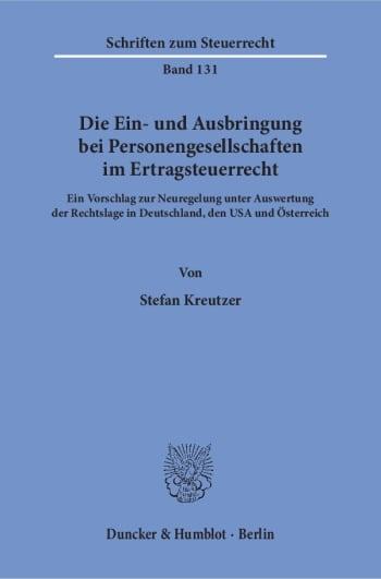 Cover: Die Ein- und Ausbringung bei Personengesellschaften im Ertragsteuerrecht