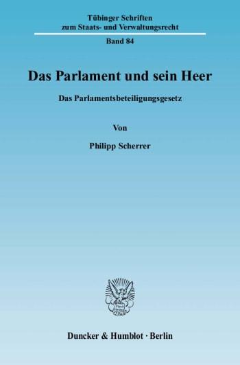 Cover: Das Parlament und sein Heer