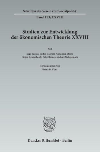 Cover: Die Ökonomik im Spannungsfeld zwischen Natur- und Geisteswissenschaften