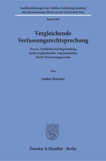 Cover: Vergleichende Verfassungsrechtsprechung