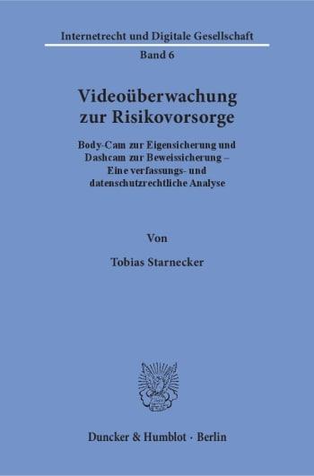 Cover: Videoüberwachung zur Risikovorsorge