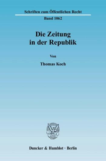 Cover: Die Zeitung in der Republik