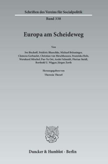 Cover: Europa am Scheideweg