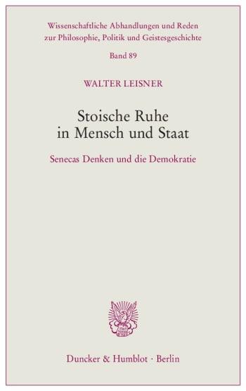 Cover: Stoische Ruhe in Mensch und Staat