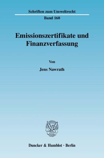 Cover: Emissionszertifikate und Finanzverfassung