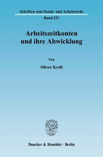 Cover: Arbeitszeitkonten und ihre Abwicklung