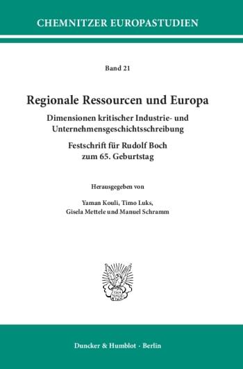 Cover: Regionale Ressourcen und Europa
