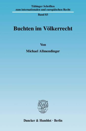 Cover: Buchten im Völkerrecht
