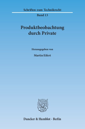 Cover: Produktbeobachtung durch Private