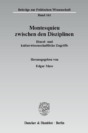 Cover: Montesquieu zwischen den Disziplinen