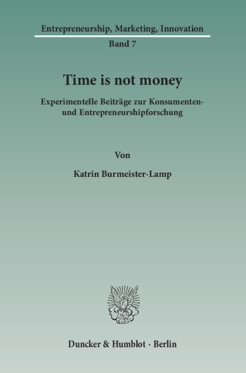 Cover: Time is not money