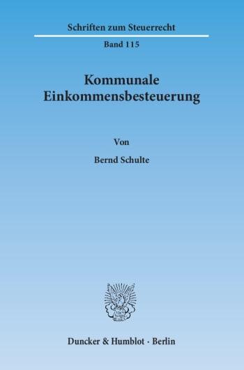 Cover: Kommunale Einkommensbesteuerung