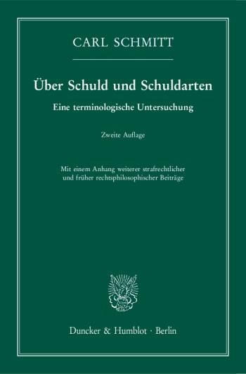 Cover: Über Schuld und Schuldarten