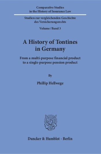 Cover: A History of Tontines in Germany