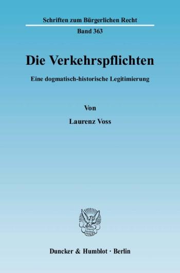 Cover: Die Verkehrspflichten