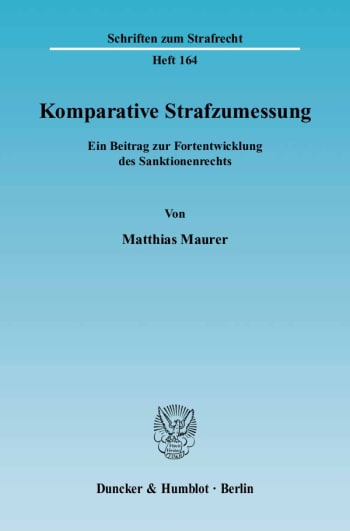 Cover: Komparative Strafzumessung